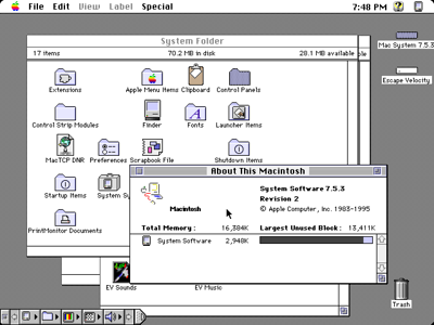Macintosh System 7 Desktop